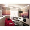 Дизайн интерьера квартиры с урбанистическим пейзажем в современном стиле, Генуэзская,  ЖК Гольфстрим, Одесса