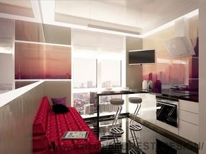 Дизайн интерьера квартиры с урбанистическим пейзажем в современном стиле, Генуэзская,  ЖК Гольфстрим, Одесса — FOREST DESIGN