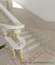 Лестницы из мрамора, гранита и оникса