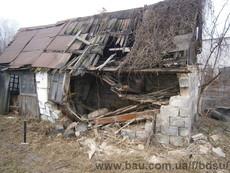 Демонтаж вручную старых частных домов и хозпостроек
