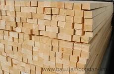 Брус сосновий сухий 40х60 мм. Довжина 4,5 м. Ціна 2500 грн.