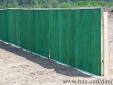 Будывельні паркани, щити дерев`яні
