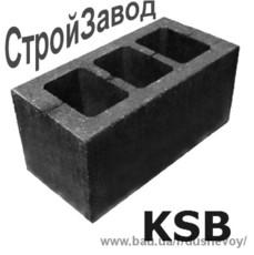Шлакоблок стіновий посилений М75 190х190х390 мм, Київ