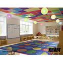 Подвесной потолок на Т-профиле KRAFT Fortis с акустическими плитами KRAFT WoodAcoustic