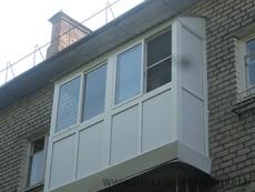 Балкон металлопластіковий под ключ