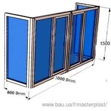 Металлопластіковий балкон