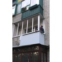"""Балкон """"под ключ"""" - остекление, утепление, обшивка."""