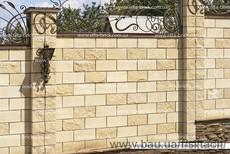 Полублок декоративный угловой полнотелый (заборный)