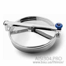 Люк круглий нержавіючий без тиску 300 мм — Тринокс