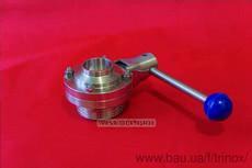 Затвор дисковий різьблення-зварювання нержавіючої DIN Dn 40 AISI 304