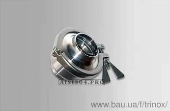 Клапан зворотний під зварювання DIN Dn 40 AISI 304 — Тринокс