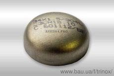 Заглушка еліптична нержавіюча 52 * 1,5 мм DIN 11850 AISI304