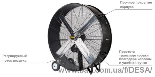 Потужний мобільний промисловий вентилятор MASTER DF 48P