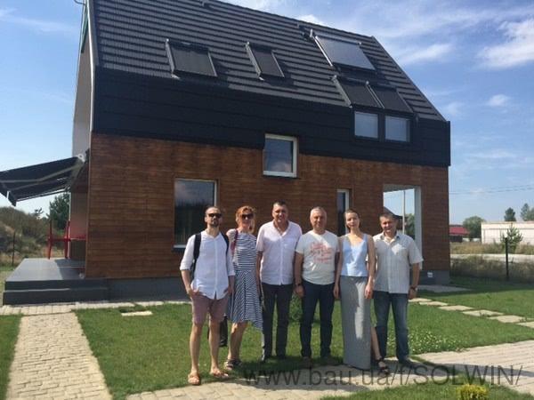 СОЛВІН провела ознайомчу екскурсію по проекту Оптима Хауз для групи архітекторів з Києва і Кишинева