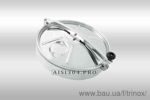 Новий завоз: люк круглий нержавіючий 500 мм (без тиску)