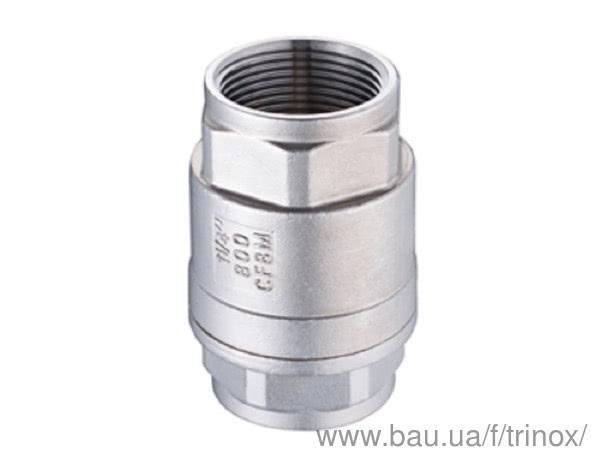 Поповнення складу: Клапан зворотний різьбовій нержавіючий ГОСТ Dn 15 AISI 304