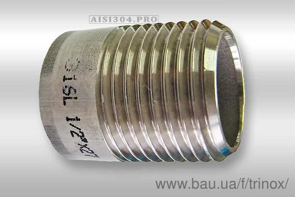 Тепер є всі розміри різьби нержавіючої (полусгон) AISI304 TRiNOX