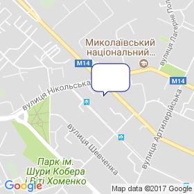 Миколаївкомундорпроект на мапі