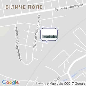 Метабо Україна на мапі