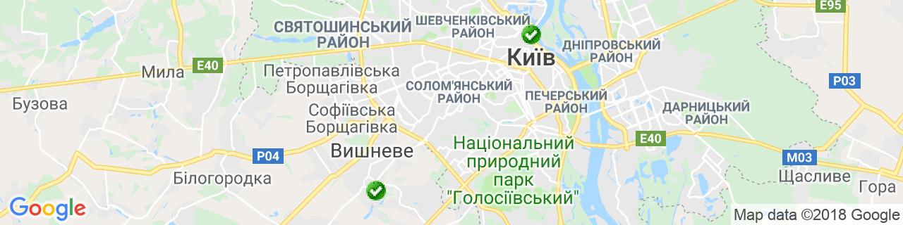 Карта об'єктів компанії ТМ ДИЗАЙН ПЛАСТ