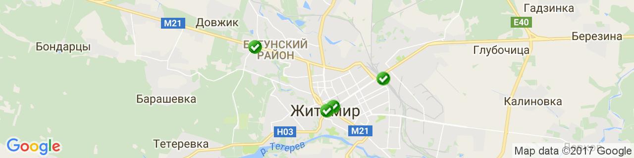 Карта об'єктів компанії НОВІ ВІКНА