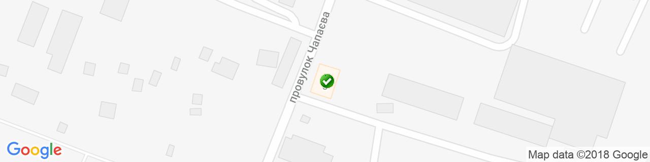 Карта об'єктів компанії КровМікс