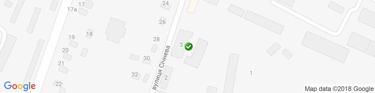 Карта об'єктів компанії Парасоля
