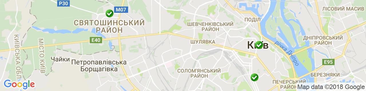 Карта об'єктів компанії Бюро ВИНК