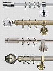 Карнизы для штор декоративные трубчатые 300 см