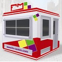 Экокабина (ECO кабина) - блокпост охраны в фирменном стиле