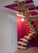 Поворотная открытая лестница, маршевая — Сiон-будсервіс