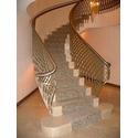 Полувинтовая бетонная лестница