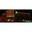 Оформление фасада завода светодиодными гирляндами