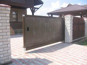 Откатные ворота автоматические — Воротные Системы - Днепропетровск
